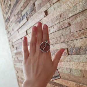 Кольцо Гранат Альмандин Кабашон фото